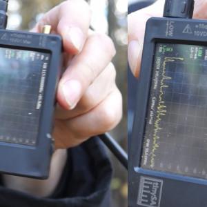 На расстоянии 540м от машины с репитерами прибор не смог измерить уровень сигнала в диапазоне 145 МГц