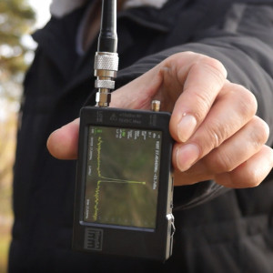 На стартовой точке теста уровень сигнала в диапазоне 27 МГц минус 21,7 дБм