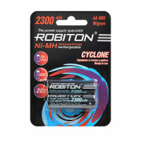 """Упаковка из 2 шт. """"АА"""" аккумуляторов Robiton Cyclone 2300 мАч"""
