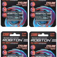 "Комплект (8 шт. ""АА"") аккумуляторов Robiton Cyclone 2300 мАч"