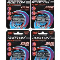 "Комплект (8 шт. ""ААA"") аккумуляторов Robiton Cyclone 800 мАч"