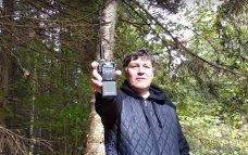 Тест работы в мокром после дождя лесу раций диапазона 27 МГц