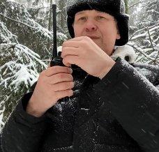 Зимние тесты работы раций в лесу