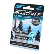 """2 шт. """"АA"""" аккумуляторов Robiton SIBERIA 2000 mAh"""