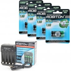 Комплект из 8 Ni-Zn аккумуляторов Robiton Ni-Zn AAA и зарядного устройства Robiton ROBITON Smart4 C3