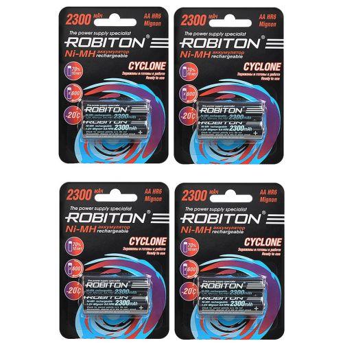 Комплект аккумуляторов Robiton Cyclone 2300 мАч