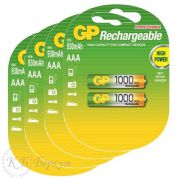 "Комплект (8 шт. ""ААA"") аккумуляторов GP AAA 1000 mAh"