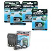 Комплект из 8 Ni-Zn аккумуляторов Robiton Ni-Zn AA и зарядного устройства ROBITON Smart4 C3