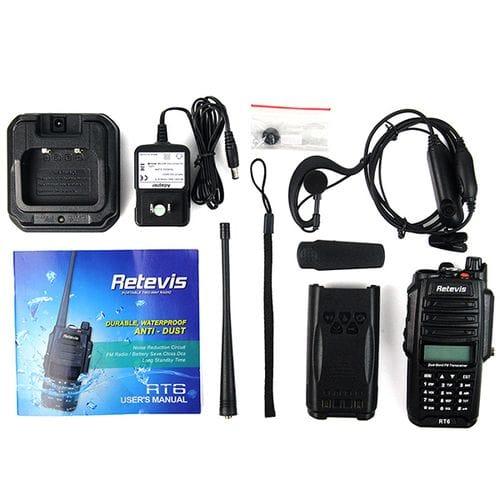 Профессиональная водонепроницаемая портативная радиостанция Retevis RT6
