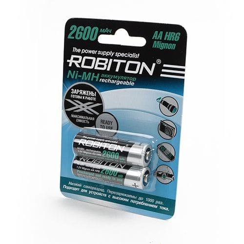 "2 ""АA"" аккумулятора Robiton ready to use 2600mAh"
