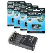 Комплект из 8 Ni-Zn аккумуляторов Robiton Ni-Zn AAA и зарядного устройства Robiton 3in1 Charger